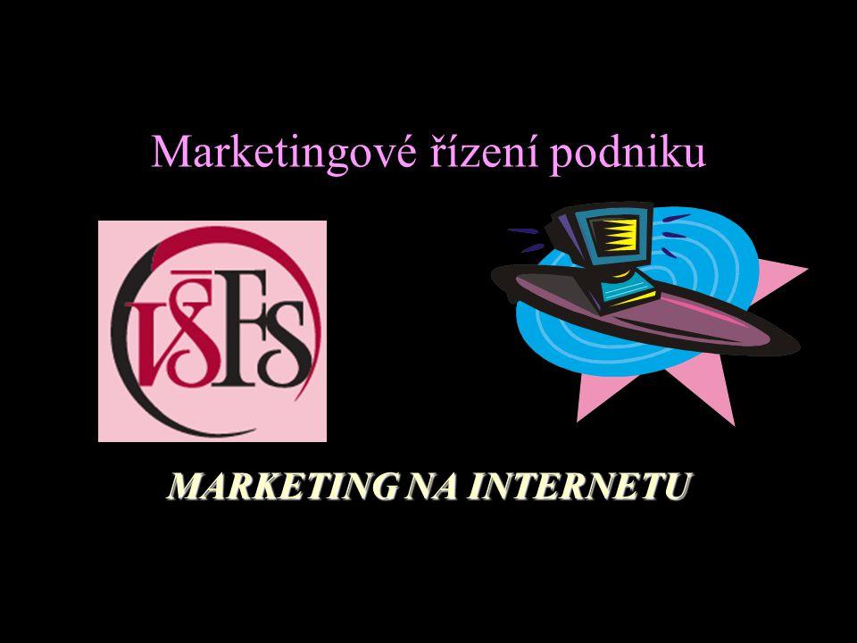 Marketingové řízení podniku MARKETING NA INTERNETU