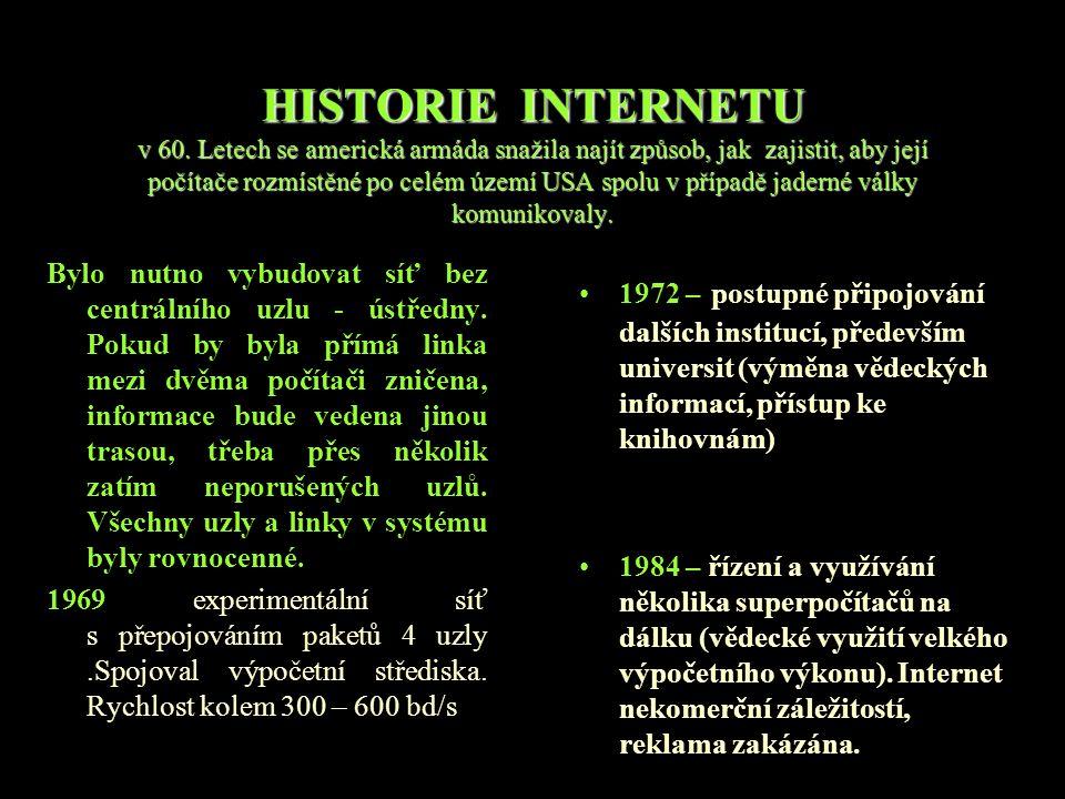 HISTORIE INTERNETU v 60.
