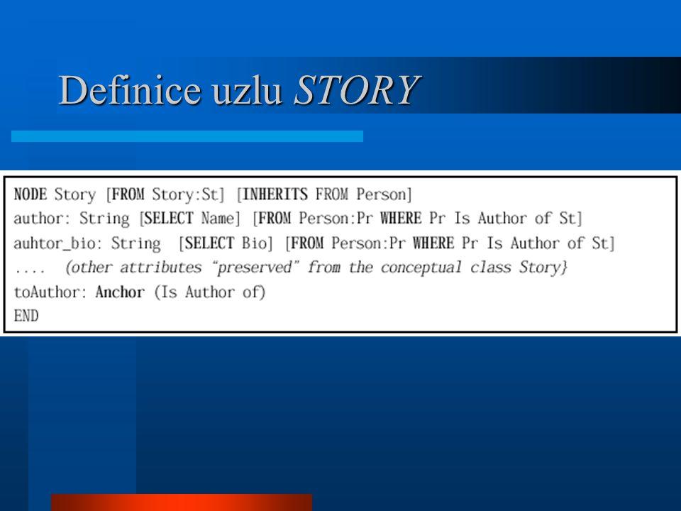 Definice uzlu STORY
