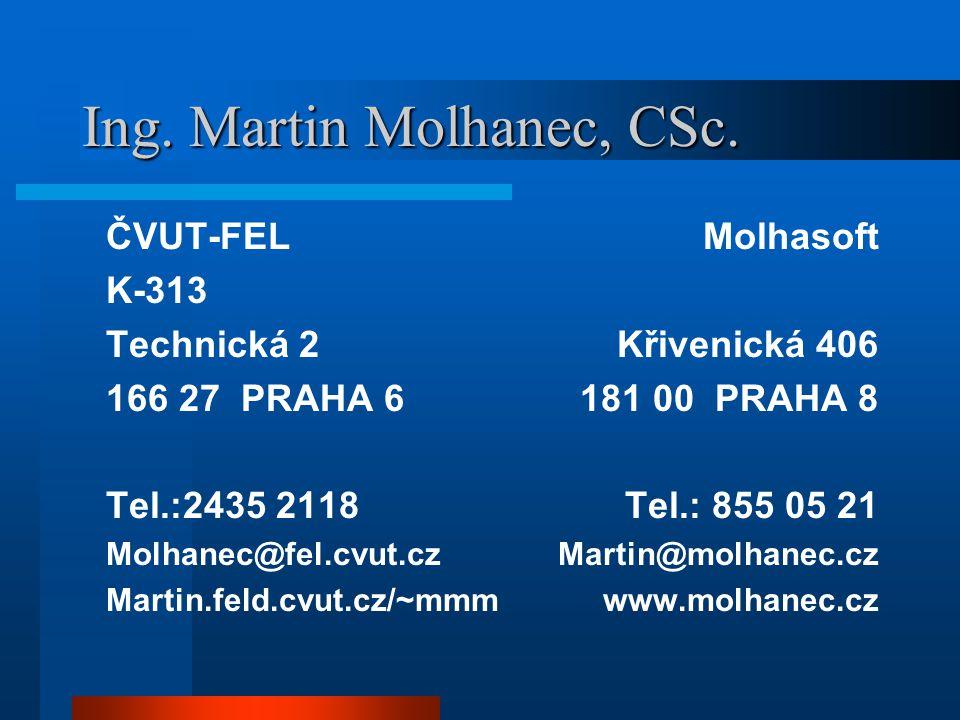 Ing. Martin Molhanec, CSc.