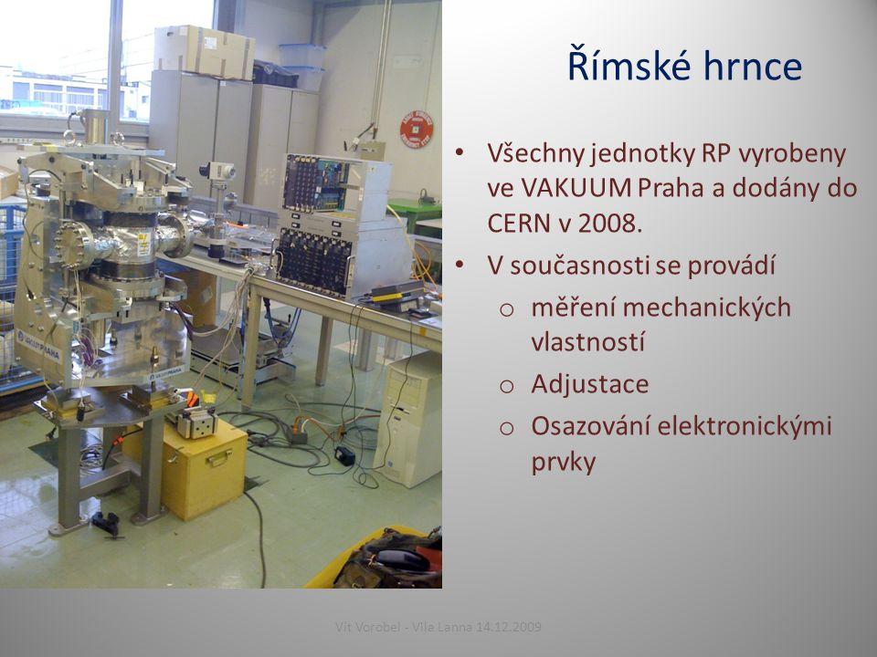Římské hrnce Všechny jednotky RP vyrobeny ve VAKUUM Praha a dodány do CERN v 2008.