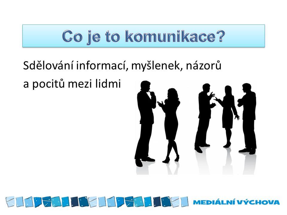 Sdělování informací, myšlenek, názorů a pocitů mezi lidmi