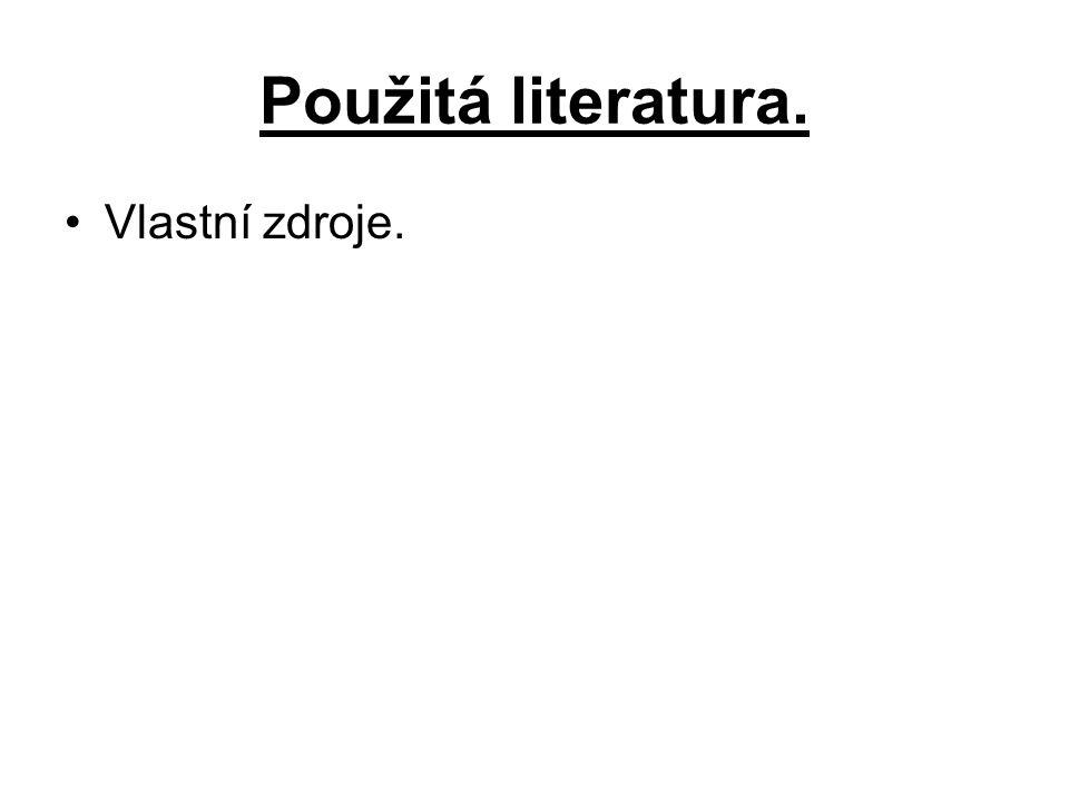 Použitá literatura. Vlastní zdroje.
