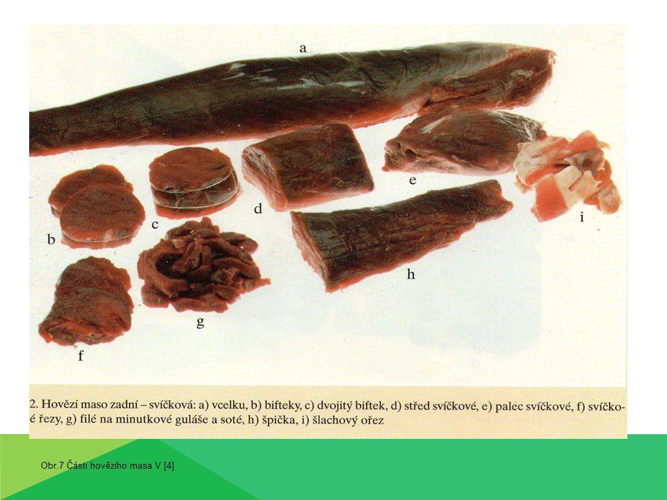 Obr.7 Části hovězího masa V [4]