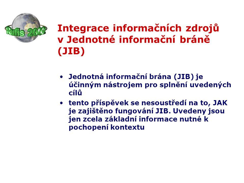 dostatek informací o použitých nástrojích je k dispozici na informačních stránkách JIB http://jib-info.cuni.cz/, další informace (včetně informací o předpokladech připojení) lze získat u správce JIB - ÚVT UK (na Rufis přítomen dr.