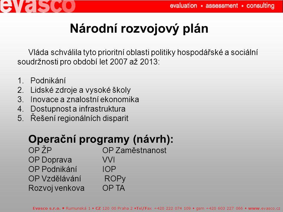 Národní rozvojový plán Evasco s.r.o.