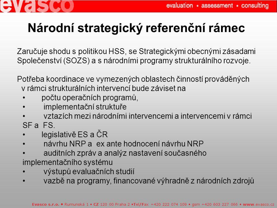 Národní strategický referenční rámec Evasco s.r.o.