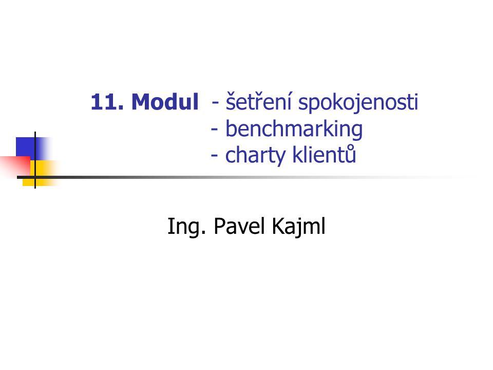 11. Modul - šetření spokojenosti - benchmarking - charty klientů Ing. Pavel Kajml