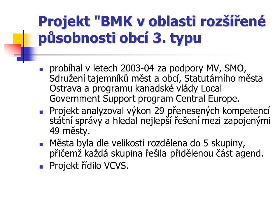 Projekt BMK v oblasti rozšířené působnosti obcí 3.