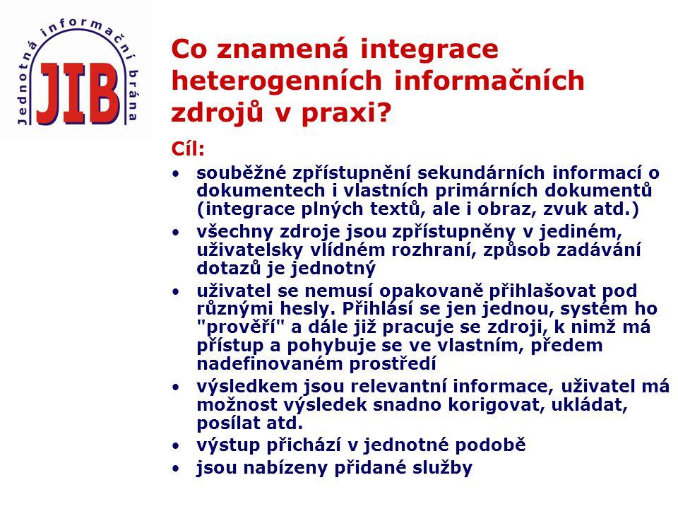 Co znamená integrace heterogenních informačních zdrojů v praxi.