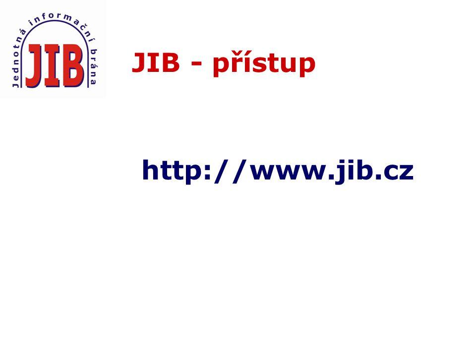 JIB - přístup http://www.jib.cz