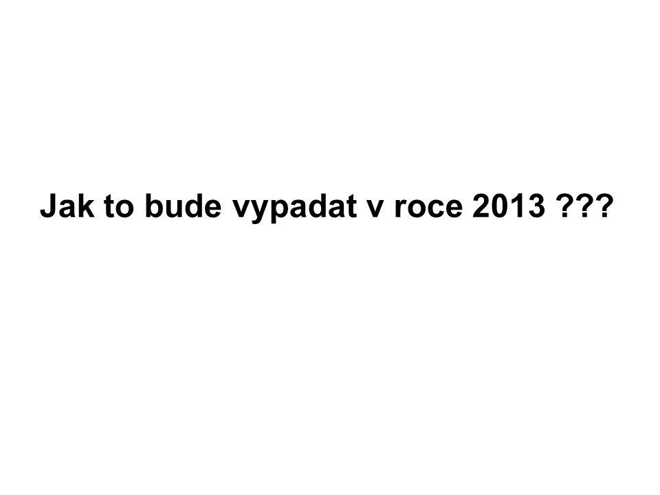 Jak to bude vypadat v roce 2013 ???