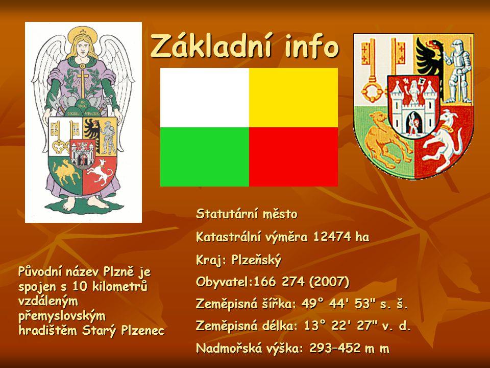 Základní info Kraj: Plzeňský Obyvatel:166 274 (2007) Zeměpisná šířka: 49° 44' 53