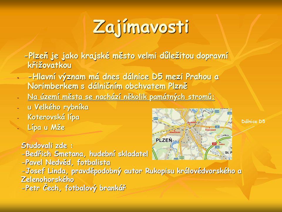 Zajímavosti -Plzeň je jako krajské město velmi důležitou dopravní křižovatkou -Plzeň je jako krajské město velmi důležitou dopravní křižovatkou - -Hla