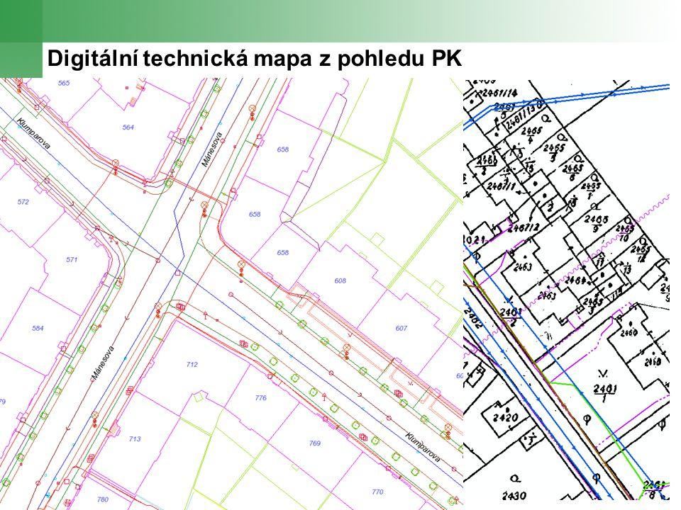 Digitální technická mapa z pohledu PK Plzeňský kraj chce realizovat tento projekt za určitých podmínek Základní podmínkou je, že se do projektu aktivně zapojí úřady obcí s rozšířenou působností, nejlépe však i všechny stavební úřady bez kterých je tento projekt nerealizovatelný Za uvažovaných finančních prostředků se dá vytvořit prostředí pro tvorbu a správu DTM, nikoliv však jí pořídit Dle našeho názoru chybí referenční mapový podklad pro tvorbu a správu DTM (mapa povrchové situace, skutečný stav x právní stav v KN)