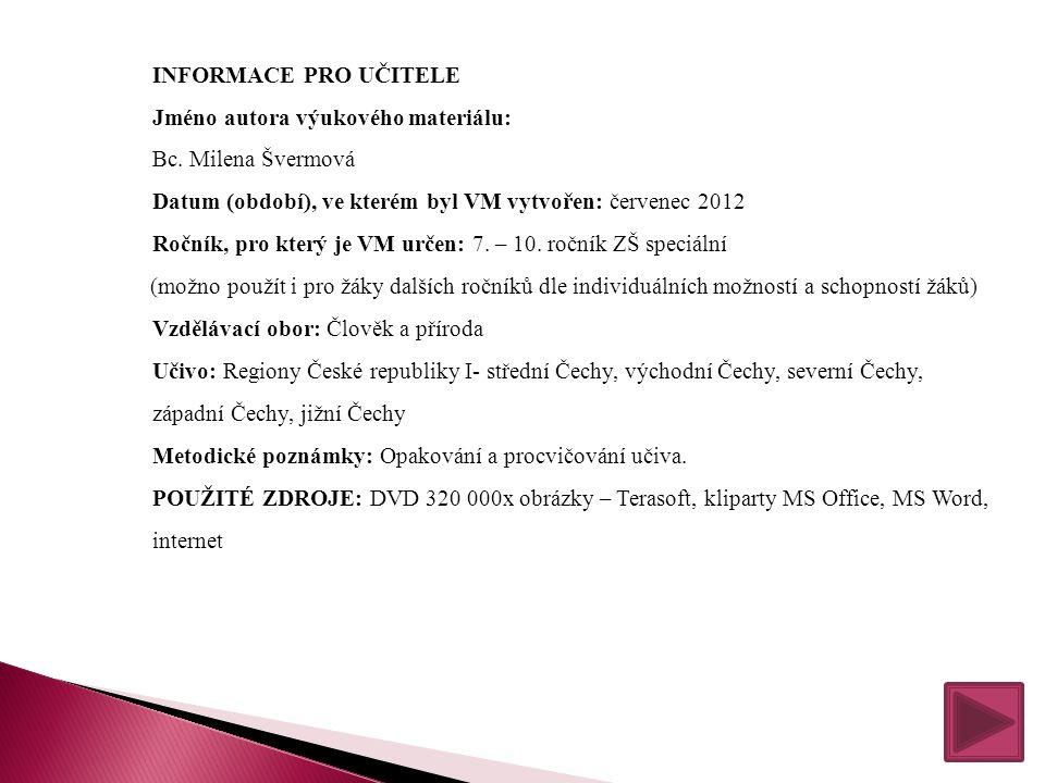 VY_32_INOVACE_ 13_ Regiony ČR (1) (2) (SADA ČÍSLO 6)
