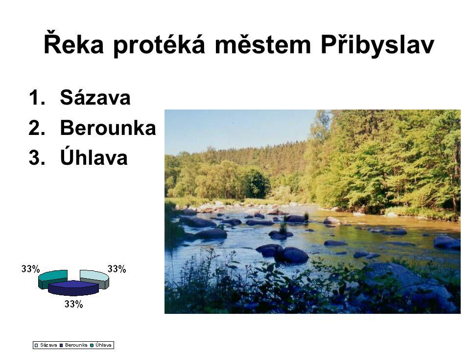 Řeka protéká městem Přibyslav 1.Sázava 2.Berounka 3.Úhlava