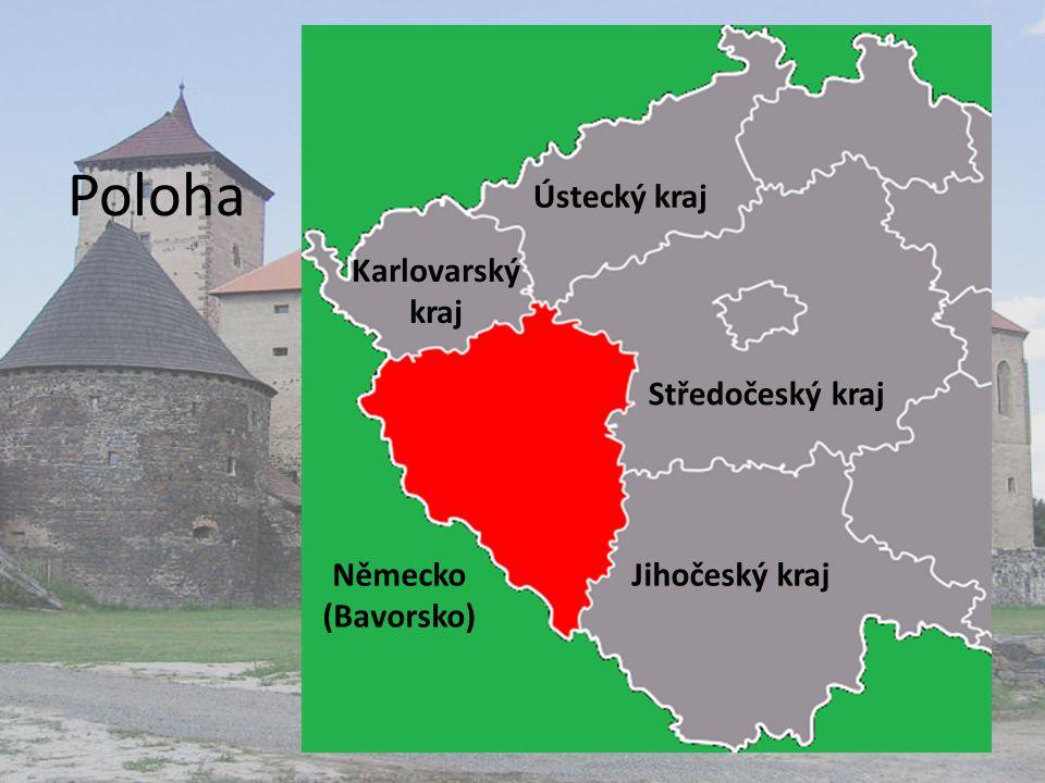 Poloha Středočeský kraj Karlovarský kraj Ústecký kraj Jihočeský krajNěmecko (Bavorsko)