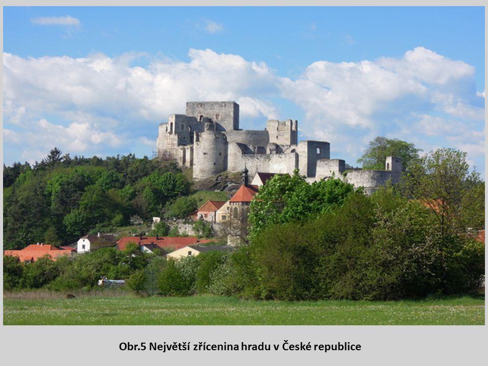 Obr.5 Největší zřícenina hradu v České republice