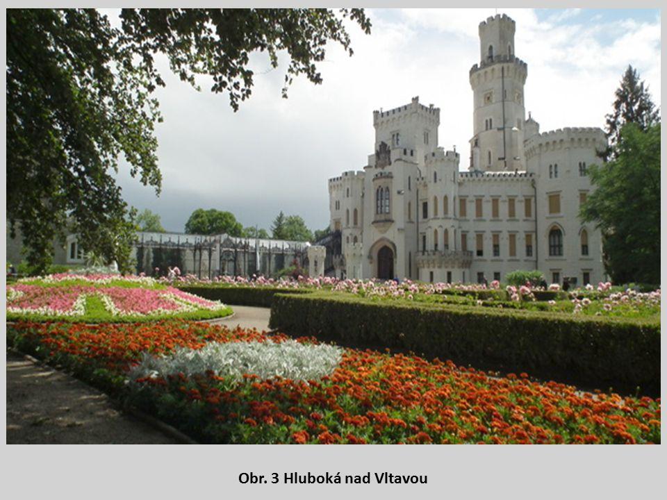 Obr. 3 Hluboká nad Vltavou