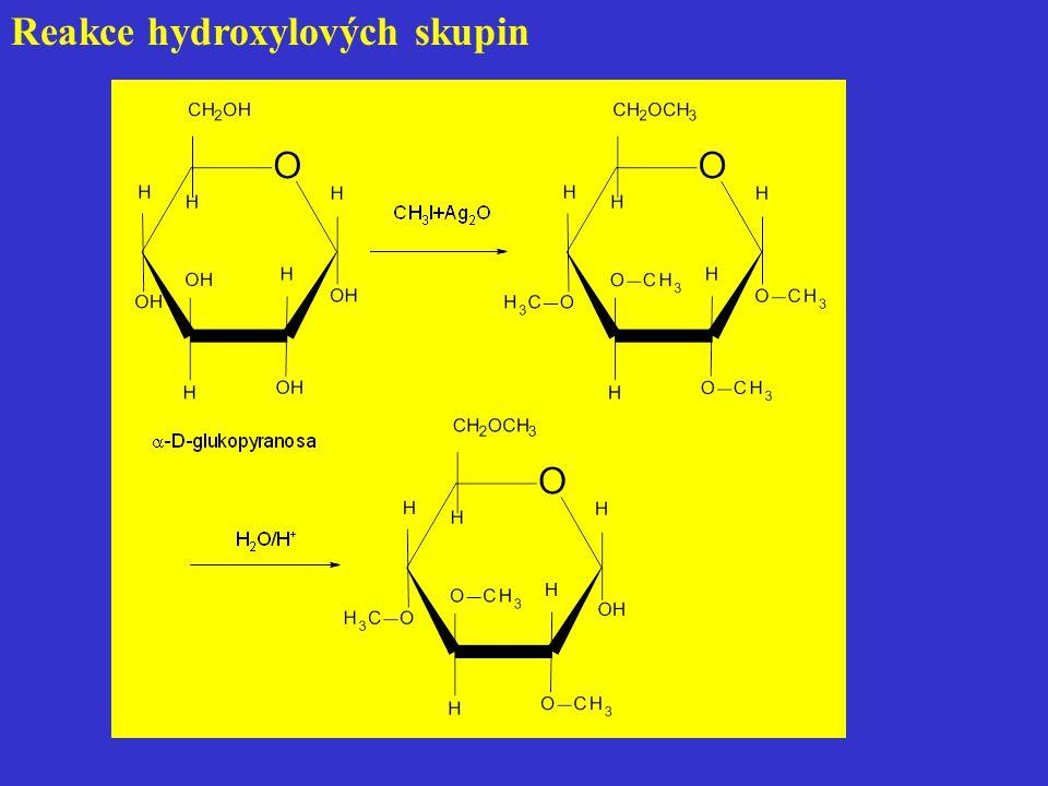 Reakce hydroxylových skupin