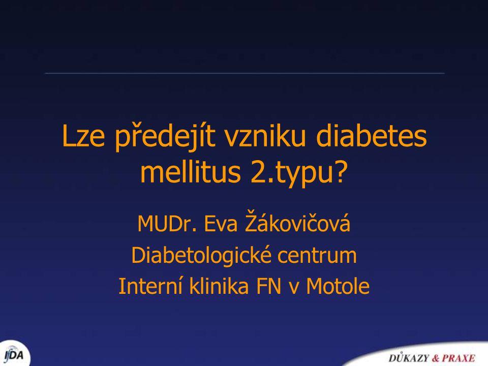 Úvod diabetes mellitus 2.