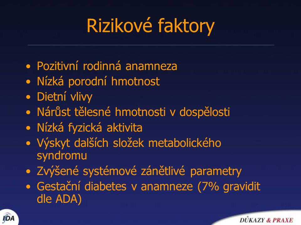 Prediabetes osoby s IFG a/nebo IGT rizikový faktor rozvoje DM 2.