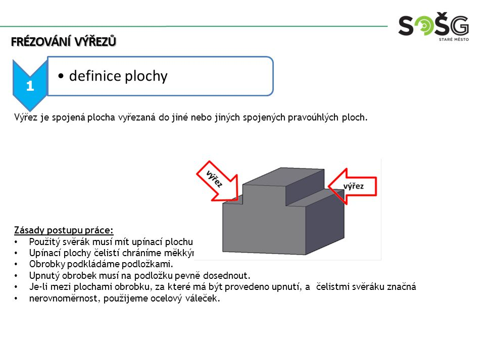 2 technologický postup Zadání: Máme vyfrézovat dva výřezy o rozměru 5x10 mm na hlavě základového šroubu.