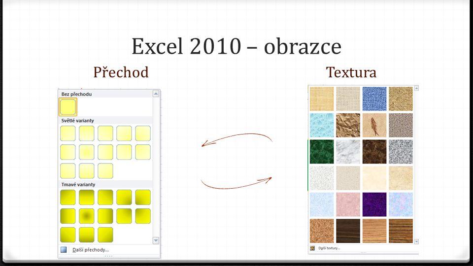 Excel 2010 – obrazce PřechodTextura