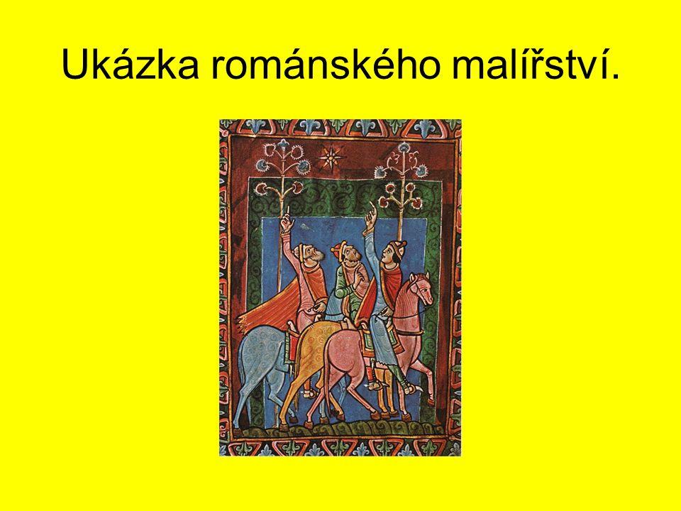 Ukázka románského malířství.