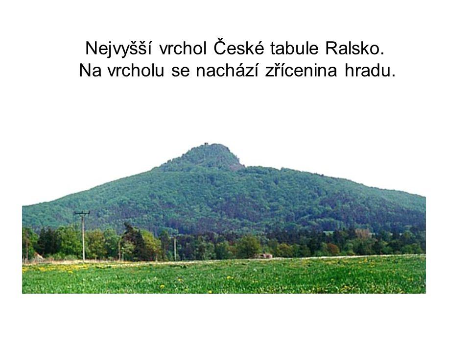 Nejvyšší vrchol České tabule Ralsko. Na vrcholu se nachází zřícenina hradu.
