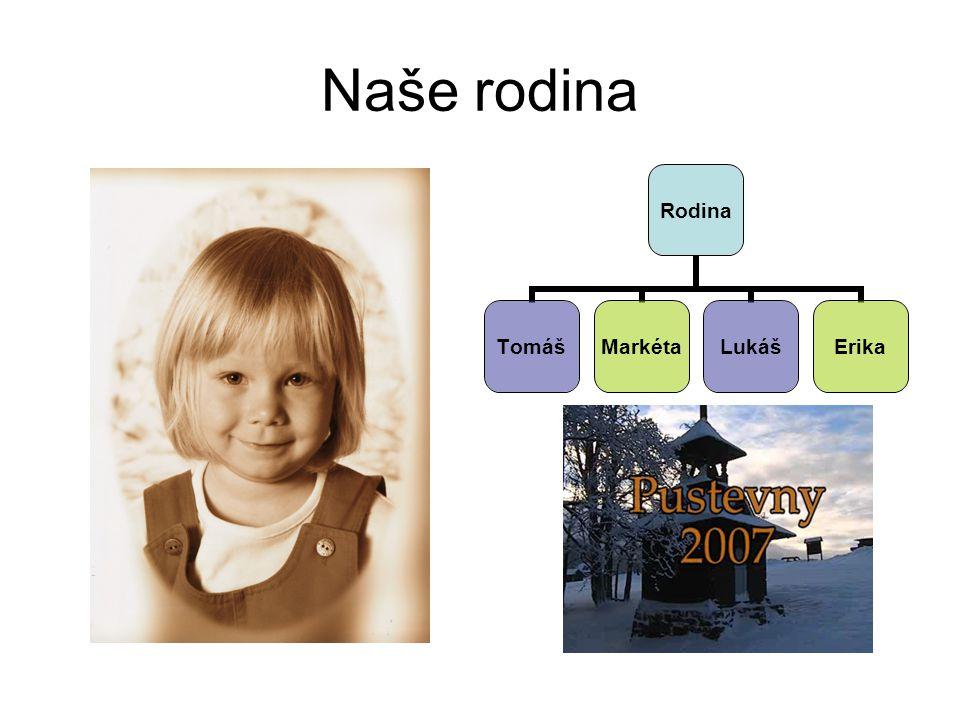 Naše rodina Rodina TomášMarkétaLukášErika