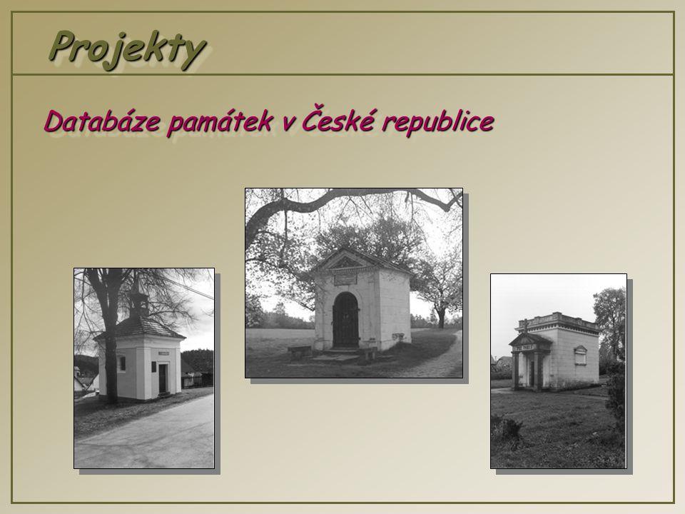 ProjektyProjekty Databáze památek v České republice