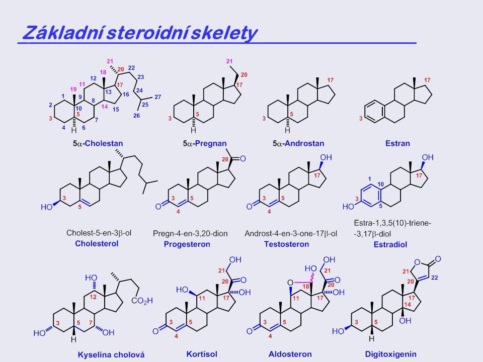 Základní steroidní skelety _____________________________________