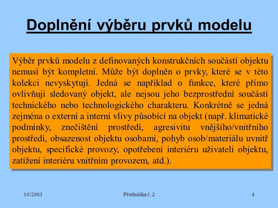 10/2003Přednáška č.