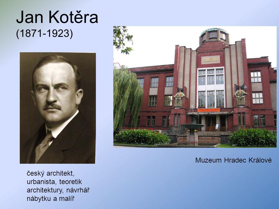 Jan Kotěra (1871-1923) český architekt, urbanista, teoretik architektury, návrhář nábytku a malíř Muzeum Hradec Králové