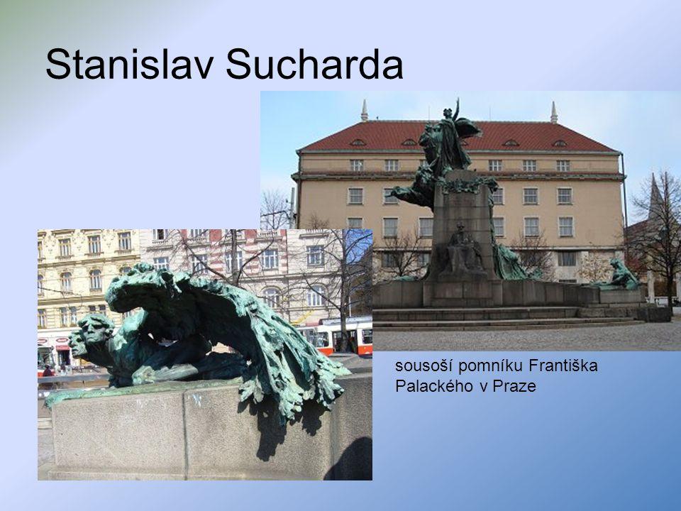 Stanislav Sucharda sousoší pomníku Františka Palackého v Praze