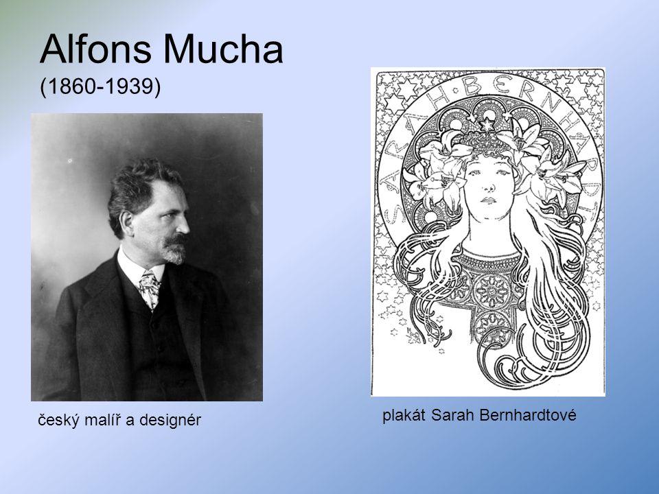 Alfons Mucha (1860-1939) český malíř a designér plakát Sarah Bernhardtové