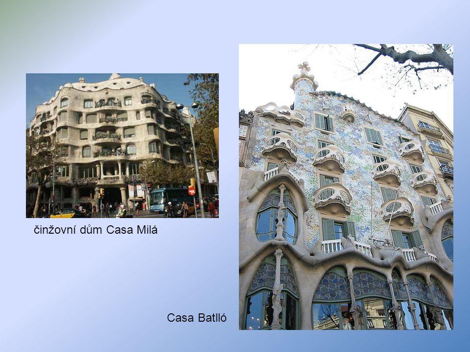 činžovní dům Casa Milá Casa Batlló