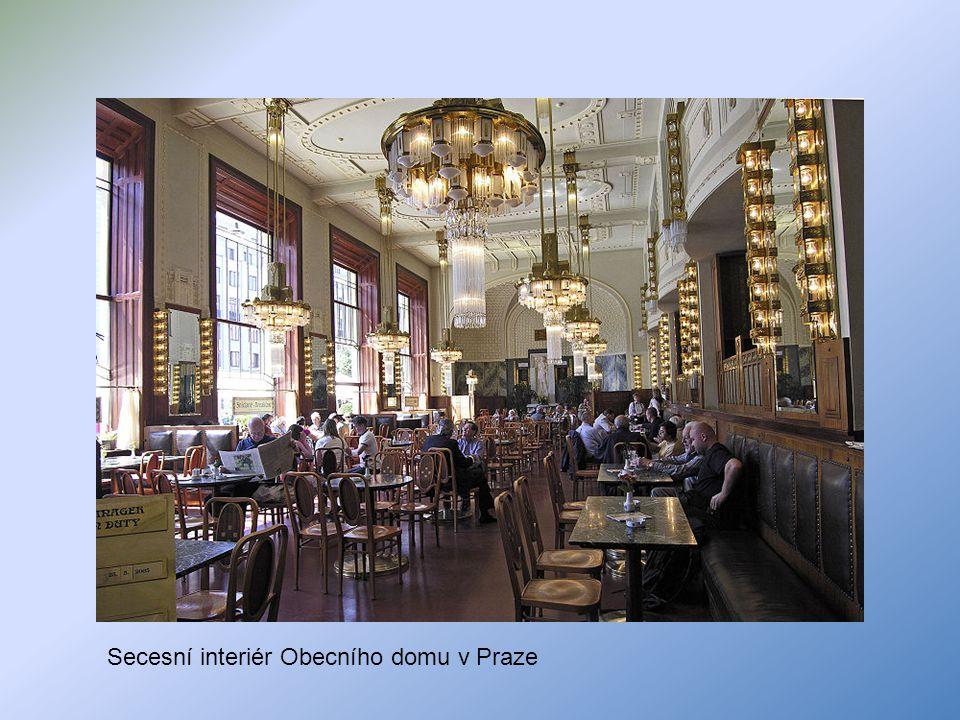 Secesní interiér Obecního domu v Praze