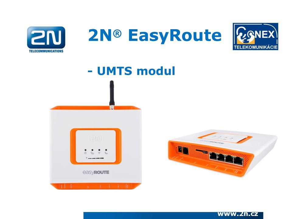 www.2n.cz 2N ® EasyRoute - UMTS modul
