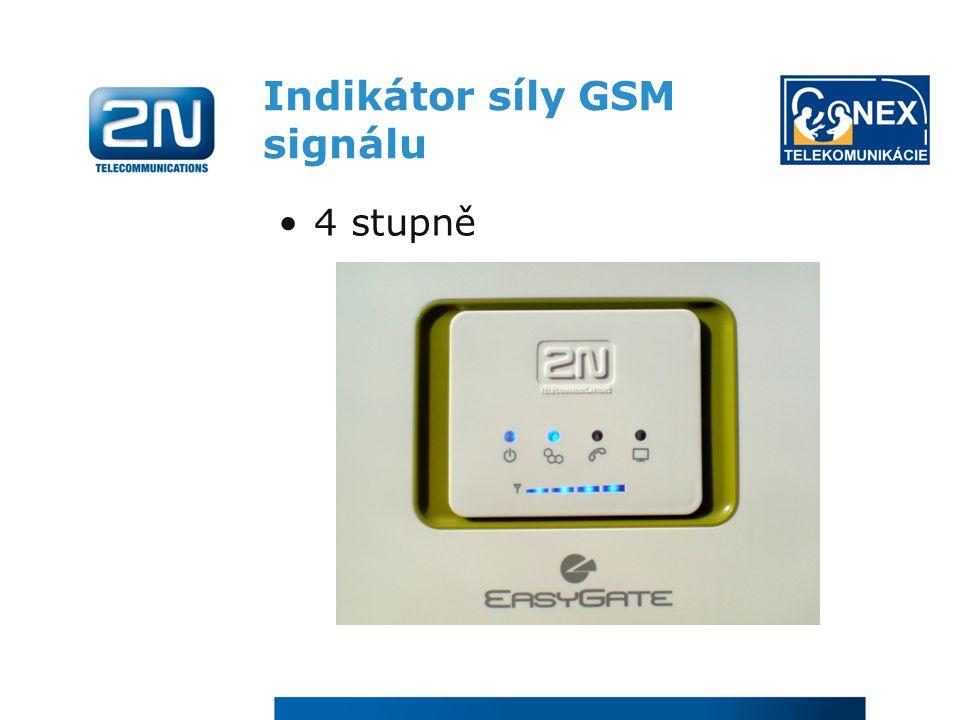Indikátor síly GSM signálu 4 stupně
