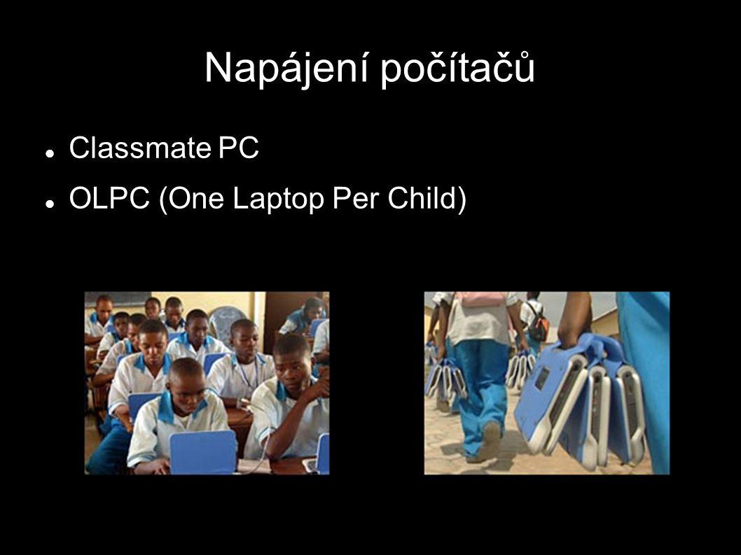 Napájení počítačů Classmate PC OLPC (One Laptop Per Child)