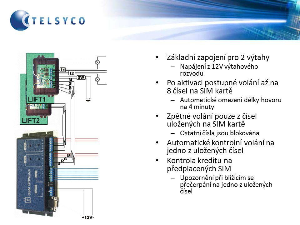 Možnost připojení k 230VAC pomocí adaptéru Lze zálohovat 12V akumulátorem