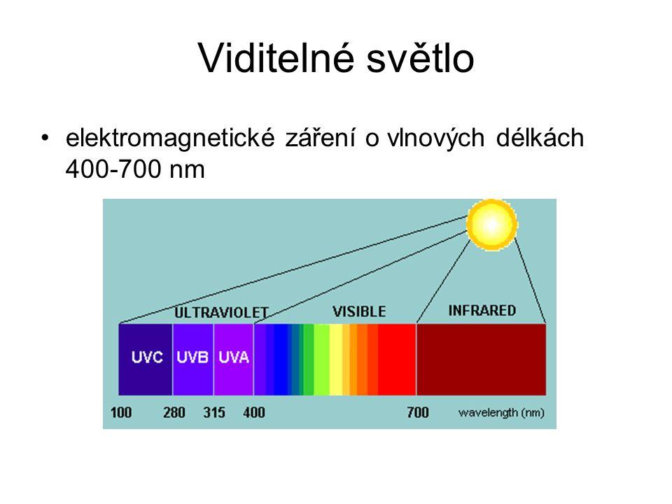 Barevné vidění lidské oko vnímá: –dominantní vlnovou délku (odstín) –čistotu barvy (sytost) –jas (intenzitu)