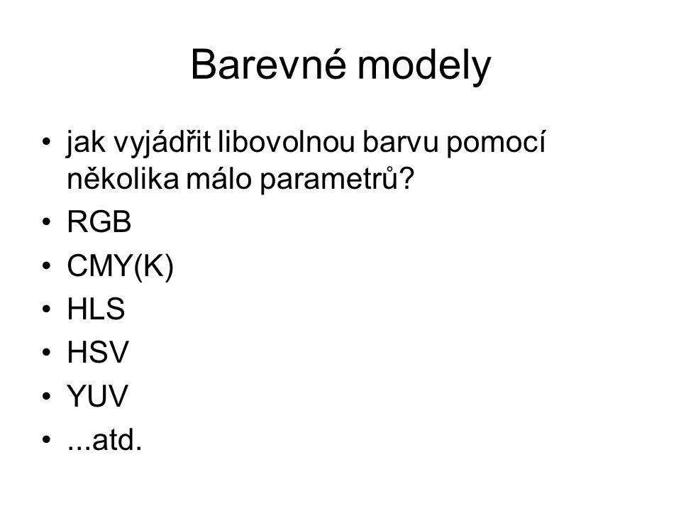 Barevné modely jak vyjádřit libovolnou barvu pomocí několika málo parametrů.
