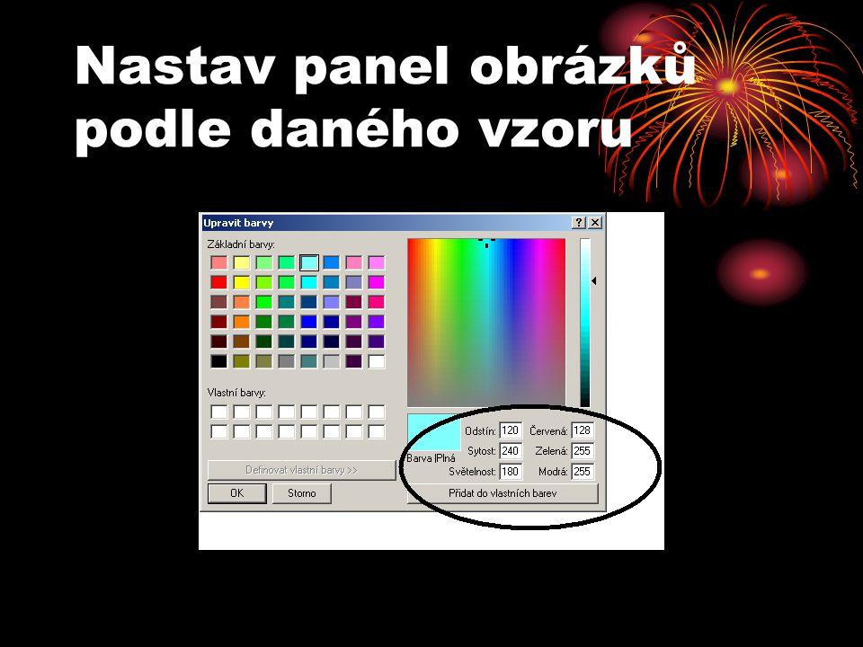 Nastav panel obrázků podle daného vzoru
