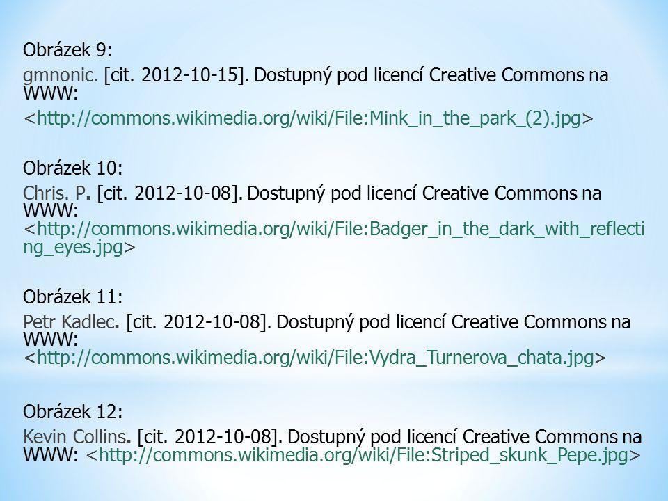 Obrázek 9: gmnonic. [cit. 2012-10-15]. Dostupný pod licencí Creative Commons na WWW: Obrázek 10: Chris. P. [cit. 2012-10-08]. Dostupný pod licencí Cre