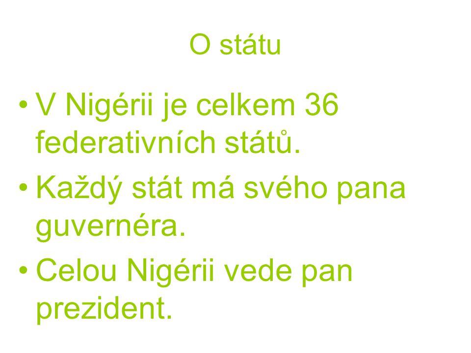 O státu V Nigérii je celkem 36 federativních států.