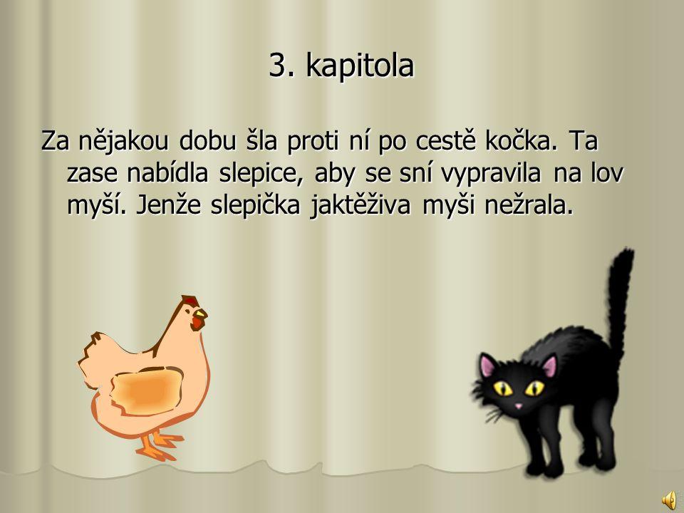 3.kapitola Za nějakou dobu šla proti ní po cestě kočka.